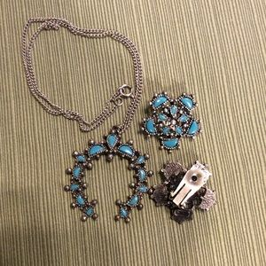 NYT Necklace and Clip-on Earring Set